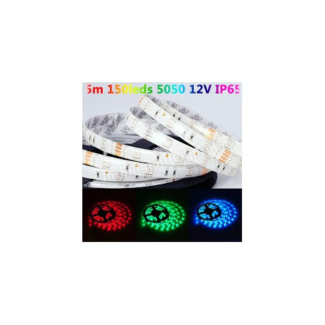 Tira led low cost SMD5050 12V luz RGB