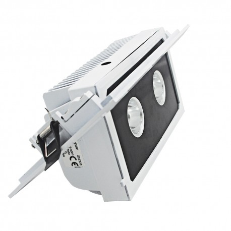 Rectangular recessed led spotlight for shops 20 W